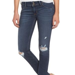 Hudson Collins Skinny Jean Blue Ripped Size 26